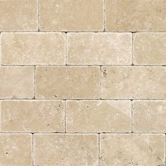 "Kitchen Backsplash: Torreon Tumbled Travertine Tile (3"" x 6"")"