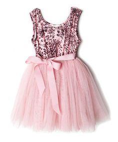 Look at this #zulilyfind! Pink Cheetah Dress - Toddler & Girls by Designer Kidz #zulilyfinds
