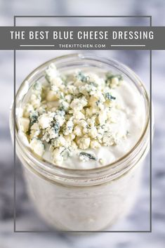Frugal Food Items - How To Prepare Dinner And Luxuriate In Delightful Meals Without Having Shelling Out A Fortune How To Make The Best Blue Cheese Dressing A 5 Minute Blue Cheese Dressing Recipe Sauce Recipes, Cooking Recipes, Yummy Recipes, Cooking Tips, Vegetarian Recipes, Blue Cheese Recipes, Blue Cheese Salad, Blue Cheese Pasta, Blue Cheese Butter