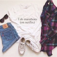 Cute outfits: Fashion I Do Marathons On Netflix Women T Shirts Casual Cotton Short Sleeve Tops Tees T shirt Letters printing Clothing Netflix Shirt, Netflix Funny, Outfits For Teens, Casual Outfits, Teens Clothes, Women's Clothes, Cheap Clothes, Teen Fashion, Fashion Outfits