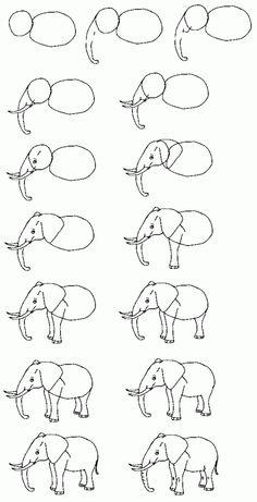 graphisme dessiner un éléphant