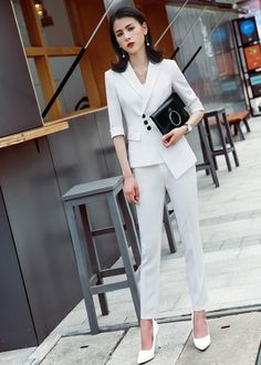 Business Formal Skirt Suit Women Half Sleeve Blazer Skirt Office Temperament Interview Plus Size Work Wear Size S Color black coat and skirt Business Outfits, Office Outfits, Casual Outfits, Jean Shirt Dress, Suits For Women, Clothes For Women, Skirt Suit Set, Plus Size Work, Corporate Wear