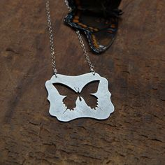 Swallowtail Sterling Necklace by SamanthaJuneCreative on Etsy