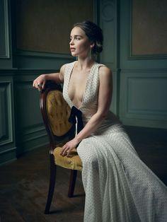 EMILI CLARKE by Mark Seliger 2016 Vanity Fair Oscar Party Portrait