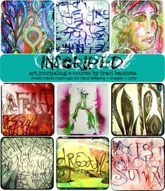 INSCRIBED: art journaling e-course - creativityUNLEASHED by traci bautista