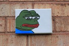 painting canvas modern frog dank meme pepe sad art the on Sad Frog Painting On Canvas Modern Art Dank Meme Pepe The FrogYou can find Meme paintings and more on our website Small Canvas Paintings, Easy Canvas Art, Funny Paintings, Small Canvas Art, Mini Canvas Art, Canvas Ideas, Painting Canvas, Spongebob Painting, Cartoon Painting