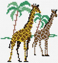 Cross Stitch | Giraffes xstitch Chart | Design