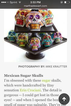 Day of the Dead Sugar Skulls by PuffyWoodson on Etsy