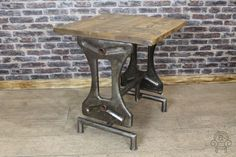 INDUSTRIAL RESTAURANT TABLE VINTAGE PINE TOP CAFE TABLE