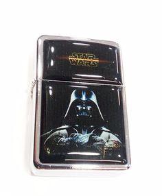 Star Wars Darh Vader Windproof Refillable Flip Top Oil Lighter