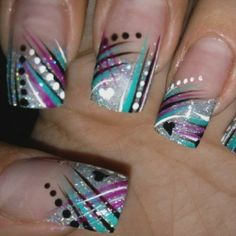 Nail Art Design Pictures 2 | Easy Colorful Nail Art Ideas - Nail Art Designs Gallery - Zimbio