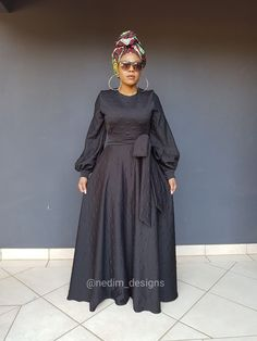 Black Dresses @nedim_designs on Instagram  or +27829652653 African Maxi Dresses, Latest African Fashion Dresses, African Attire, African Wear, Women's Fashion Dresses, African Traditional Dresses, Traditional Outfits, Black Funeral Dress, Kitenge