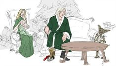 Lucius is so thoughtful. completed painter classic for the lines. and for the random bits of color christmas Fanart Harry Potter, Anel Harry Potter, Harry Potter Artwork, Harry Potter Books, Harry Potter Fandom, Harry Potter World, Harry Potter Memes, Slytherin, Hogwarts