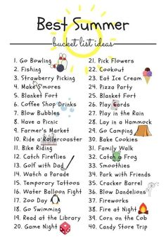 Summer Bucket List For Teens, Summer Fun List, Summer Kids, Fun Bucket List Ideas, Best Friend Bucket List, What To Do When Bored, Things To Do When Bored For Teens, Fun Sleepover Ideas, Bullet Journal Ideas Pages
