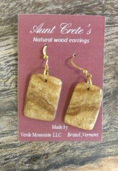 Vermont Maple Burl Earrings by vthillpainter on Etsy, $30.00