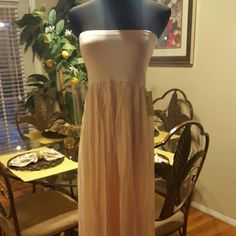 Silk dress/skirt from Italy Beautiful flowy silk dress/skirt  Can be worn both ways! Very soft pastel pink. Tagged as one size... small-xl Italian Dresses