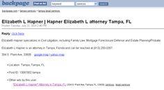 Elizabeth L Hapner Tampa Backpage  Elizabeth Hapner