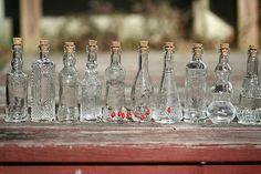 20 Bottles 5 Inch Clear Glass Bottles Bottle Collection Corks Fill With Olive Oil Vodka Vinegar Bottle Infused Vinegar Dressing Bottle