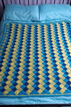 Ravelry: Project Gallery for Tunisian Crochet Entrelac Throw pattern by Lion Brand Yarn