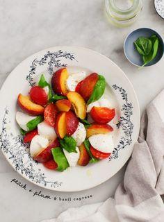 Peach and Plum Caprese Salad