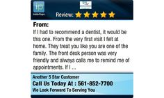If I had to recommend a dentist, it would be this one. From the very first visit I felt at...