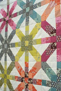 Supernova Quilt from Freshly Pieced.  Quiltalong on her blog.#Repin By:Pinterest++ for iPad#