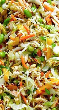 Asian Ramen Noodle Salad (a. Basically the Best Potluck Salad EVER) . Crunchy Asian Ramen Noodle Salad (a. Basically the Best Potluck Salad EVER) Crunchy Asian Ramen Noodle Salad (a. Basically the Best Potluck Salad EVER) Vegetarian Recipes, Cooking Recipes, Healthy Recipes, Potluck Recipes, Best Potluck Dishes, Potluck Ideas, Potluck Appetizers, Vegetarian Salad, Cooking Pork