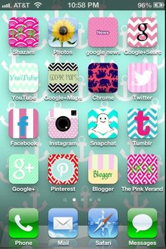 Customize Your Phone apps! Change the icons on your phone to Lilly and preppy designs. Easy to do using cocoPPa app tutorial.