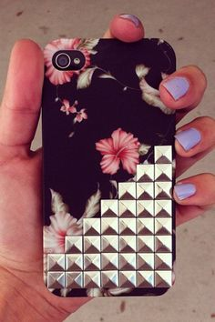 Black Floral iPhone Case