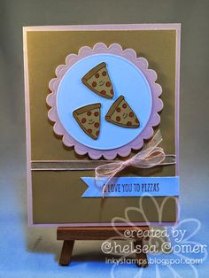Chelsea's Creative Corner: Pizzas ... New Punny Valentine Stamp set from A Muse Studios ... Available now for a limited time!!!