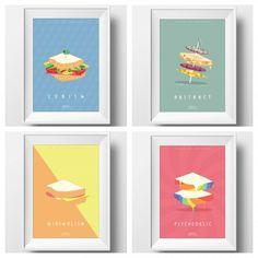 Support Aussie designers' sandwich art on Kickstarter - The Interiors Addict Cubism, Affordable Art, Psychedelic, Sandwiches, Designers, Interiors, Graphic Design, Frame, Projects