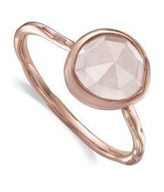 View the Siren Rose Quartz Stack Ring