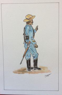 Cabo de Infantería de Marina, Cuba 1898.
