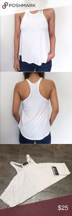 Atid Daily tank white Super soft jersey, racerback, lightweight and great for layering! Atid Clothing Tops Tank Tops