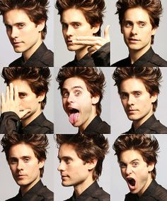 Jared Leto... So silly! He could be an anime character. He's already a character! :) ♥♡