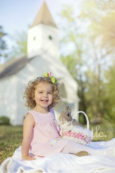 c8971f37cea6 Easter dress, Easter picture idea for toddler girl, Easter basket custom  made, spring picture, real bunny picture, Easter bunny picture, real bunny