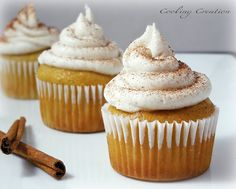 Eggnog Cupcakes with Kahlua Buttercream Frosting