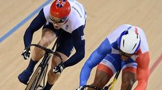 Britain's Jason Kenny added individual sprint gold to his Olympic team title on another glorious night for Team GB on the track. Track Cycling, Team Gb, Olympic Team, Show Jumping, Courses, The Man, Olympics, Motorcycle Jacket, Cycling