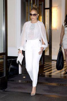 Jennifer Lopez spring street style.