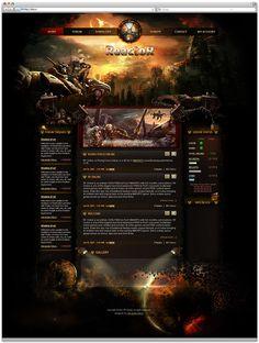 """Reactor"" - game server RF Online by Alexander Petrov, via Behance"