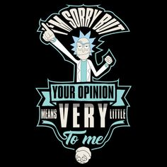 I'm sorry but your opinion means very little to me - NeatoShop