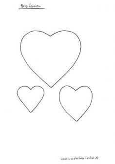Herz Vorlage Klein Zum Ausdrucken : vorlage, klein, ausdrucken, Schablone, Herz-Ideen, Schablonen,, Vorlage,, Herzschablone