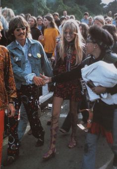 George and Patti...love the look