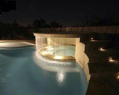 Fancy - Waterfall-Enclosed Hot Tub
