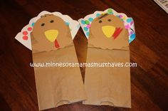 Thanksgiving Toddler Craft! Turkey Puppets! - Must Have Mom