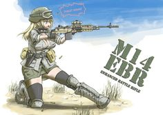 bad_id battle_rifle boots breasts casing_ejection cleavage goggles goggles_on_head gun handgun helmet holster military military_uniform ogitsune_(ankakecya-han) rifle shell_casing sleeves_rolled_up solo thighhighs uniform weapon zettai_ryouiki Anime Military, Military Girl, Comic Pictures, Manga Pictures, Anime Uniform, Anime Weapons, Girl Fights, Female Fighter, Mecha Anime