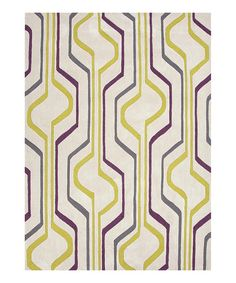 Take a look at this Green & Purple Modern Geometric Rug on zulily today!