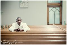 Church portrait of the groom. Photo by Steve Lyons Photography.