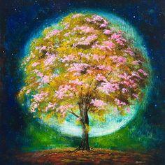 "Saatchi Online Artist: mark duffin; Acrylic, 2010, Painting ""aura tree"""