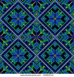 Find Embroidery Ukrainian National Ornament Decoration Vector stock images in HD and millions of other royalty-free stock photos, illustrations and vectors in the Shutterstock collection. Cross Stitch Geometric, Modern Cross Stitch Patterns, Cross Stitch Designs, Blackwork Embroidery, Cross Stitch Embroidery, Disney Button Art, Cross Stitch Cushion, Graph Paper Art, Palestinian Embroidery
